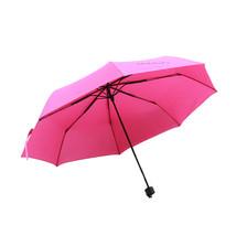 Folding Umbrella Compact Light weight Anti-UV Rain Sun Umbrella Rose Red - $15.99