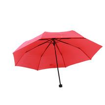 Folding Umbrella Compact Light weight Anti-UV Rain Sun Umbrella Red - $15.99