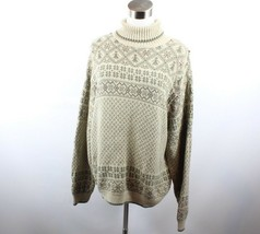 Vintage 90s Woolrich Womens Large Long Sleeve Wool Blend Turtleneck Swea... - $23.71