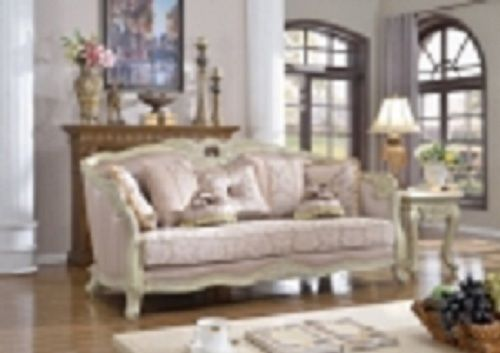 Meridian 621 Positano Living Room Sofa in Antique White Traditional Style