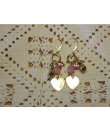 Cookie Lee Gold Heart Charm Earrings - Item #25588 - Brand New! - $9.99