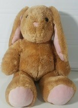 Build A Bear Workshop Plush Bunny Rabbit Stuffed Animal Light Brown Pink... - $19.39