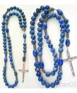 Catholic Rosary Rosenkranz  Lapis Lazuli & Heavy Sterling Silver  - $153.45