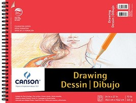 Canson Foundation Drawing Paper Pad with Micro-Perforated Sheets and Fin... - $21.84
