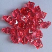 150pcs Red Acrylic Crystal Ice Rock Stones Aquarium Vase Gems Table Decorating - $6.18