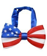 American Flag Big Dog Bow Tie FOR DOGS Patriotic America USA July 4th Pe... - ₨727.97 INR