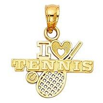 14K Yellow Gold I Love Tennis Pendant - $59.99