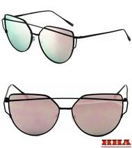 CLASSIC VINTAGE RETRO Style SUN GLASSES Black Frame - Flat Pink Mirror Lens - $10.84