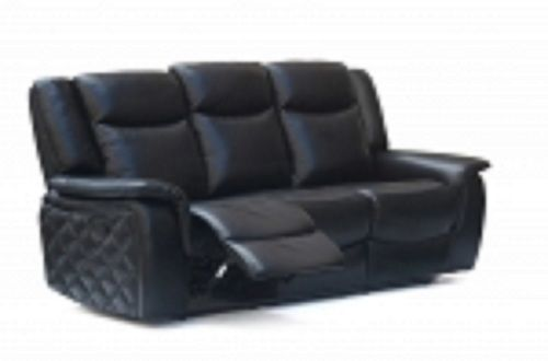 Meridian 628 Carly Living Room Sofa in Black Quilt Design Contemporary Style