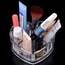 FREE SHIPPING! Heart Shape Cosmetic Organizer Makeup Drawers Display Box Acrylic - $12.95