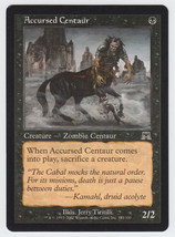 Accursed Centaur x 1, LP, Onslaught, Common Black, Magic the Gathering - $0.42 CAD