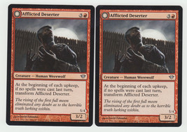 Afflicted Deserter//Werewolf Ransacker x 2, NM, Dark Ascension, Uncommon... - $0.62 CAD