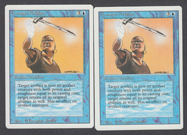 Animate Artifact x 2, NM, Revised, Uncommon Blue, Magic the Gathering - $0.79 CAD