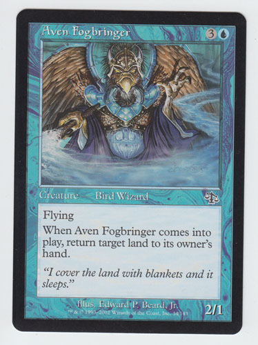 Aven Fogbringer x 1, LP, Judgment, Common Blue, Magic the Gathering