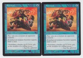 Betrayal x 2, LP, Visions, Common Blue, Magic the Gathering - $0.55 CAD