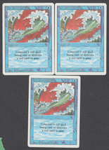 Blue Elemental Blast x 3, NM, Revised, Common Blue, Magic the Gathering - $1.08 CAD