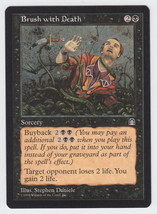 Brush with Death x 1, LP, Stronghold, Common Black, Magic the Gathering - $0.40 CAD