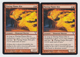 Flaring Flame-Kin x 2, LP, Dissension, Uncommon Red, Magic the Gathering - $0.61 CAD