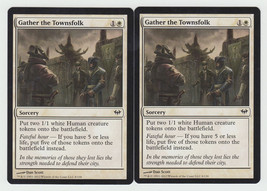 Gather the Townsfolk x 2, NM, Dark Ascension, Common White, Magic the Ga... - $0.68 CAD