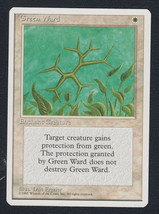 Green Ward x 1, LP, Fourth Edition, Uncommon White, Magic the Gathering - $0.49 CAD