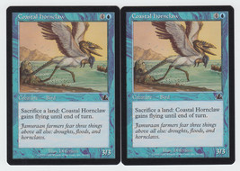 Coastal Hornclaw x 2, LP, Prophecy, Common Blue, Magic the Gathering - $0.58 CAD