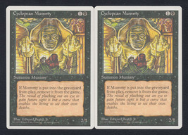 Cyclopean Mummy x 2, LP, Fourth Edition, Common Black, Magic the Gathering - $0.58 CAD