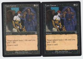 Last Caress x 2, LP, Apocalypse, Common Black, Magic the Gathering - $0.54 CAD