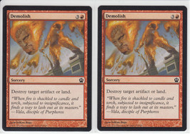 Demolish x 2, NM, Theros, Common Red, Magic the Gathering - $0.52 CAD