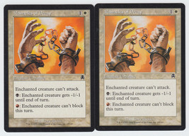 Manacles of Decay x 2, LP, Apocalypse, Common White, Magic the Gathering - $0.55 CAD