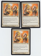 Manacles of Decay x 3, LP, Apocalypse, Common White, Magic the Gathering - $0.68 CAD
