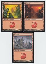 Mountain x 3, LP, Shards of Alara,  Basic Land, Magic the Gathering - $0.67 CAD