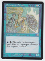 Diplomatic Escort x 1, LP, Mercadian Masques, Uncommon Blue, Magic the G... - $0.42 CAD