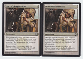 Muzzio's Preparations x 2, NM, Conspiracy, Common Conspiracy, Magic the ... - $0.53 CAD