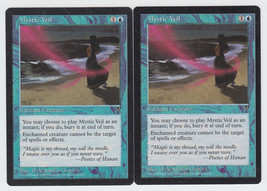 Mystic Veil x 2, CI, Visions, Common Blue, Magic the Gathering - $0.54 CAD