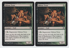 Odious Trow x 2, NM, Eventide, Common Hybrid, M... - $0.60 CAD