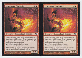 Exuberant Firestoker x 2, LP, Shards of Alara, Uncommon Red, Magic the G... - $0.48 CAD