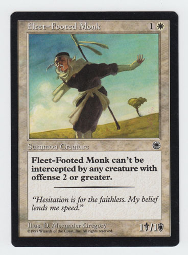 Fleet-Footed Monk x 1, LP, Portal, Common White, Magic the Gathering
