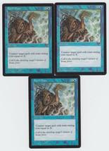 Spell Blast x 3, LP, Tempest, Common Blue, Magic the Gathering - $0.68 CAD