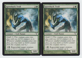 Sporeback Troll x 2, LP, Dissension, Common Green, Magic the Gathering - $0.53 CAD
