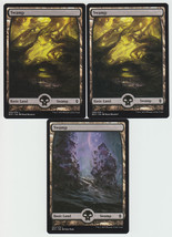 Swamp x 3, NM, Battle for Zendikar,  Basic Land, Magic the Gathering - $1.49 CAD