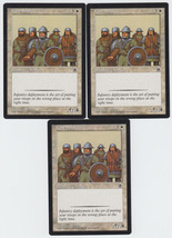 Foot Soldiers x 3, LP, Portal, Common White, Magic the Gathering - $0.70 CAD