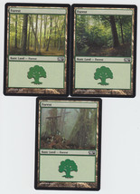 Forest x 3, NM, Magic 2010,  Basic Basic Land, Magic the Gathering - $0.88 CAD