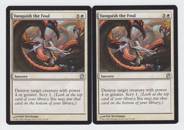 Vanquish the Foul x 2, NM, Theros, Uncommon White, Magic the Gathering - $0.53 CAD
