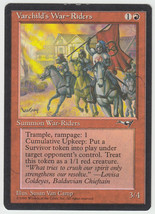 Varchild's War-Riders x 1, HP, Alliances, Rare Red, Magic the Gathering - $1.10 CAD