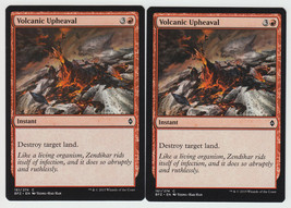 Volcanic Upheaval x 2, NM, Battle for Zendikar, Common Red, Magic the Ga... - $0.53 CAD