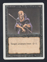 Weakness x 1, CI, Revised, Common Black, Magic the Gathering - $0.41 CAD