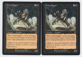 Gravedigger x 2, LP, Odyssey, Common Black, Magic the Gathering - $0.58 CAD