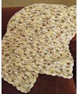 Crochet Cotton Baby Blanket, Beige Tones - Handmade - $215.20 CAD