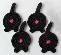 Cat Butt Coasters, Set of 4, Black - Handmade C... - $16.55 CAD