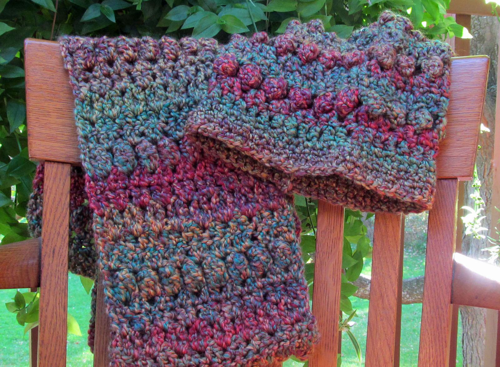 Crochet Hat, Green/Purple Mix - Handmade